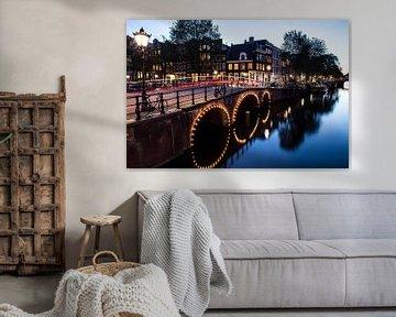 Amsterdam in de nacht van PIX URBAN PHOTOGRAPHY