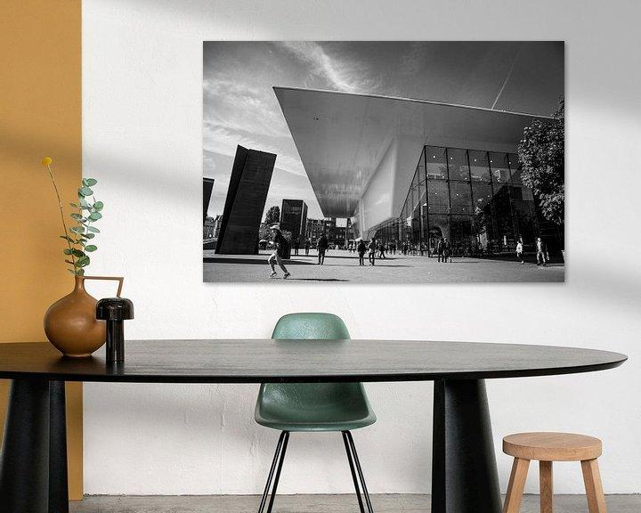 Sfeerimpressie: Stedelijk museum Amsterdam zwart-wit van PIX URBAN PHOTOGRAPHY