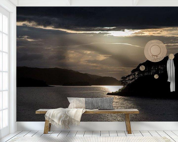 Beispiel fototapete: Sonnenuntergang bei Loch Shieldaig von Andreas Müller