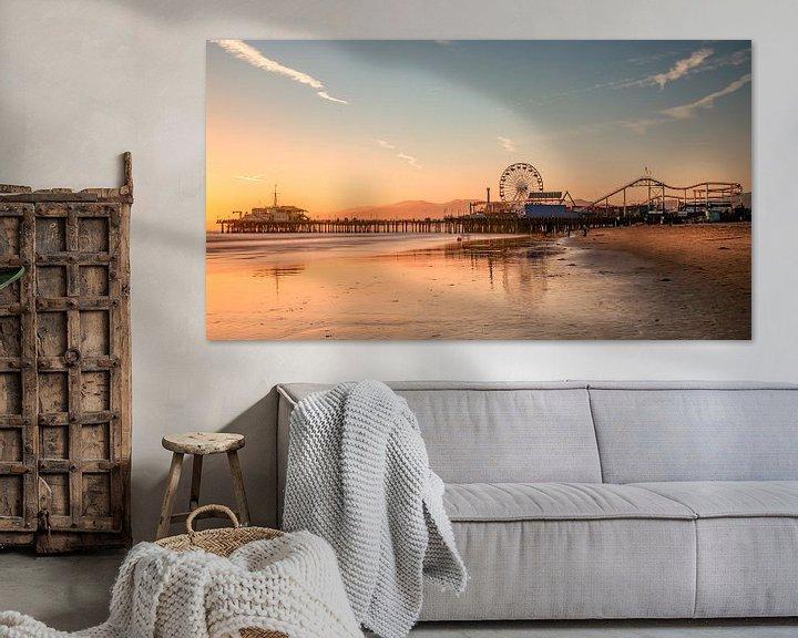 Sfeerimpressie: Santa Monica Pier van Photo Wall Decoration