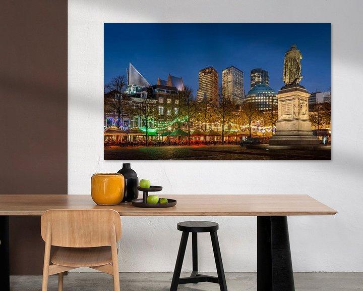 Sfeerimpressie: Avondfoto Plein in Den Haag  van Mark De Rooij
