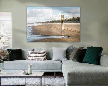 Strand bij Wijk aan Zee  van Corali Evegroen