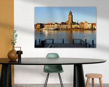 Skyline van Deventer aan de IJssel tijdens zonsondergang van Merijn van der Vliet