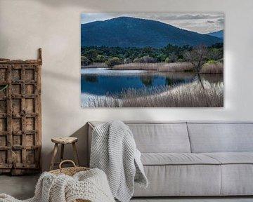 Bergmeer in Zuid-Frankrijk van Anouschka Hendriks