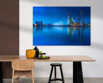 Rotterdam skyline at blue hour ... von Marc de IJk