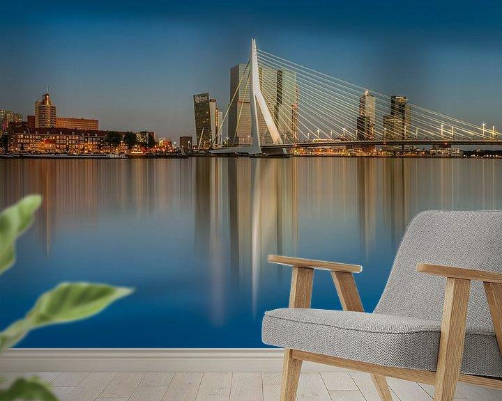 Sfeerimpressie behang: Zomeravond in Rotterdam ... van Marc de IJk