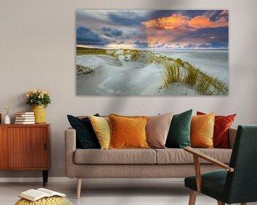 Zonsondergang op Texel van Fotografiecor .nl