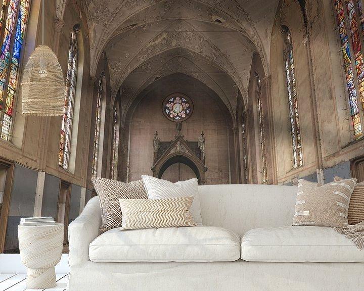 Beispiel fototapete: Kapelle mit schönen Farben von Perry Wiertz