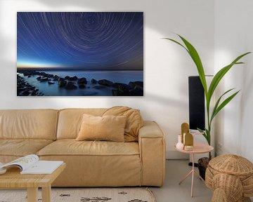 Rayures Star sur la mer du Nord