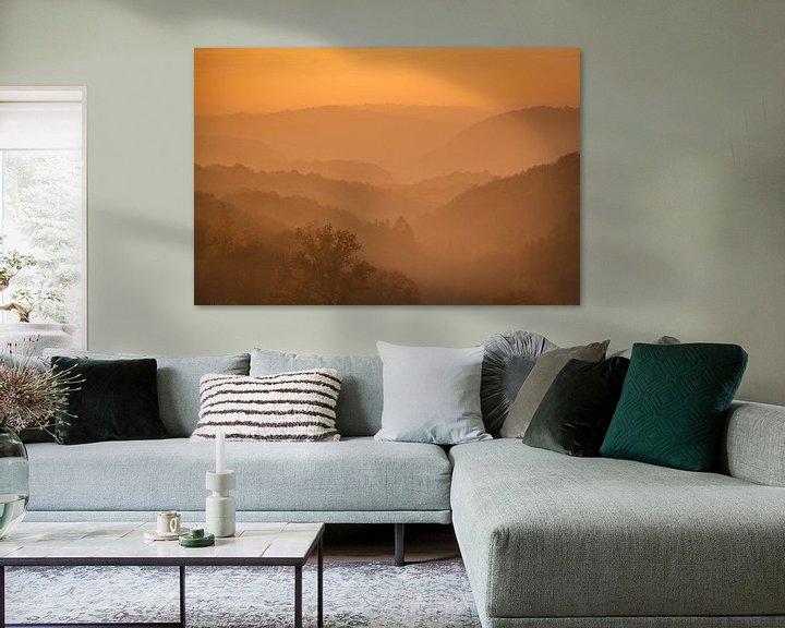 Sfeerimpressie: Avondzon in de Ardennen van Erwin Stevens