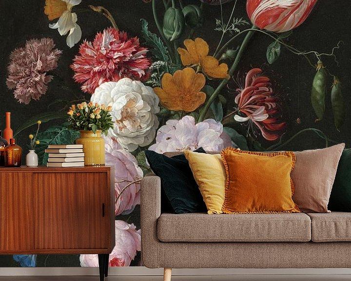 Beispiel fototapete: Blumenstrauß in einer Glasvase, Jan Davidsz. de Heem