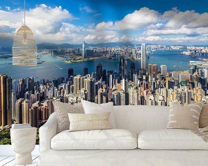 Sfeerimpressie behang: HONG KONG 01 van Tom Uhlenberg