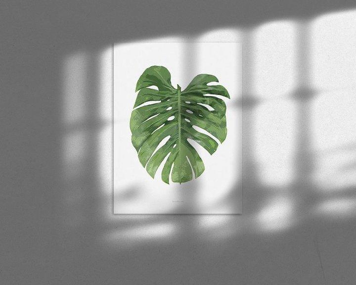 Sfeerimpressie: Botanical Monstera Leaf van Niels Eric Fotografie