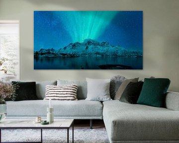 Nordlichter, Polarlicht oder Aurora Borealis sur Sjoerd van der Wal