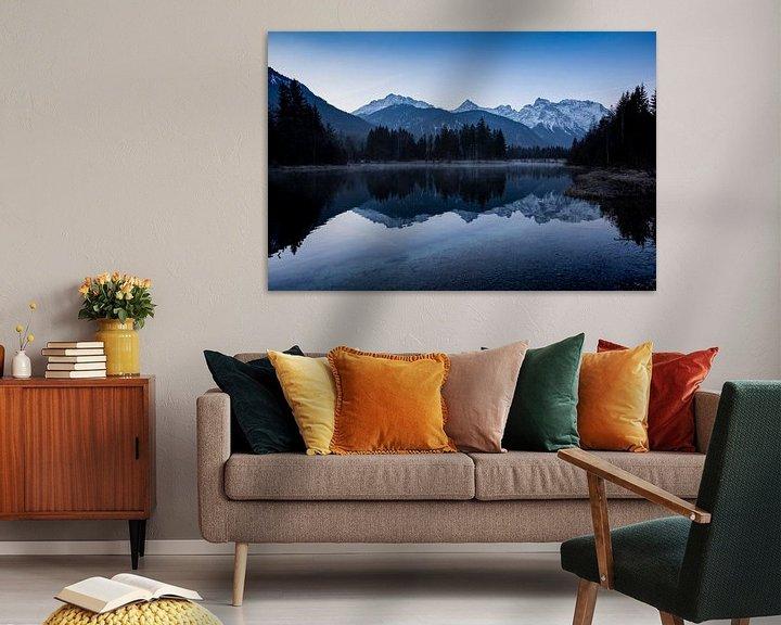 Sfeerimpressie: Blaue Stunde am Isarstausee van Andreas Müller