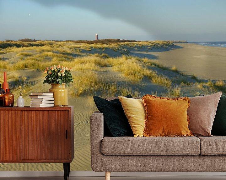 Sfeerimpressie behang: Duinen, strand en zee van Michel van Kooten