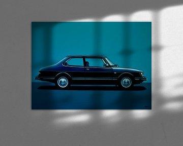 Saab 90 Schilderij von Paul Meijering