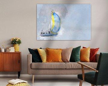 Sailing home  van Art by Jeronimo