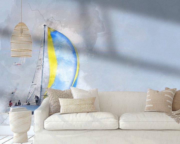 Sfeerimpressie behang: Sailing home  van Art by Jeronimo