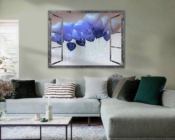 Window View - ballonhart van Christine Nöhmeier