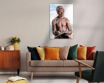 Der Strandmann, Dar es Salaam, Tansania von Jeroen Middelbeek