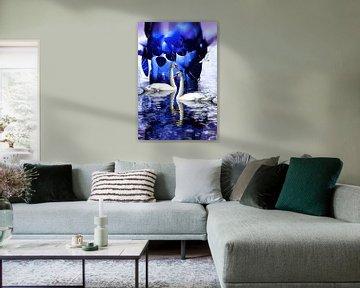 Schwanenliebe - Die ganze Welt ist himmelblau....... von Christine Nöhmeier