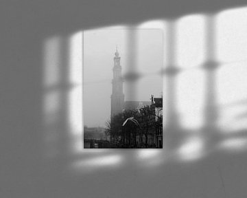 Amsterdam / Prinsengracht und Westertoren von Marianna Pobedimova