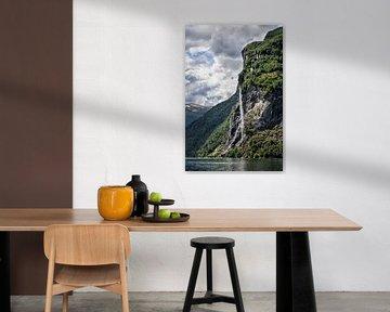 Wasserfall im Geirangerfjord von Rico Ködder