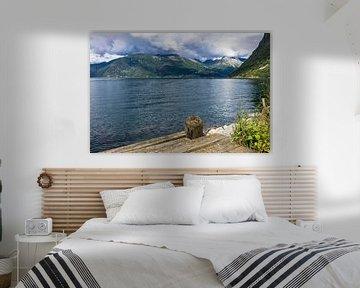 Storfjord in Norway van Rico Ködder