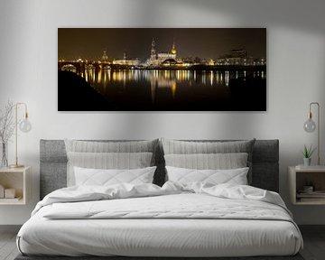 Dresden bei Nacht Panorama