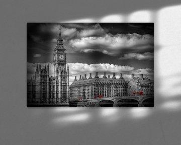 LONDON Big Ben & Red Bus van Melanie Viola