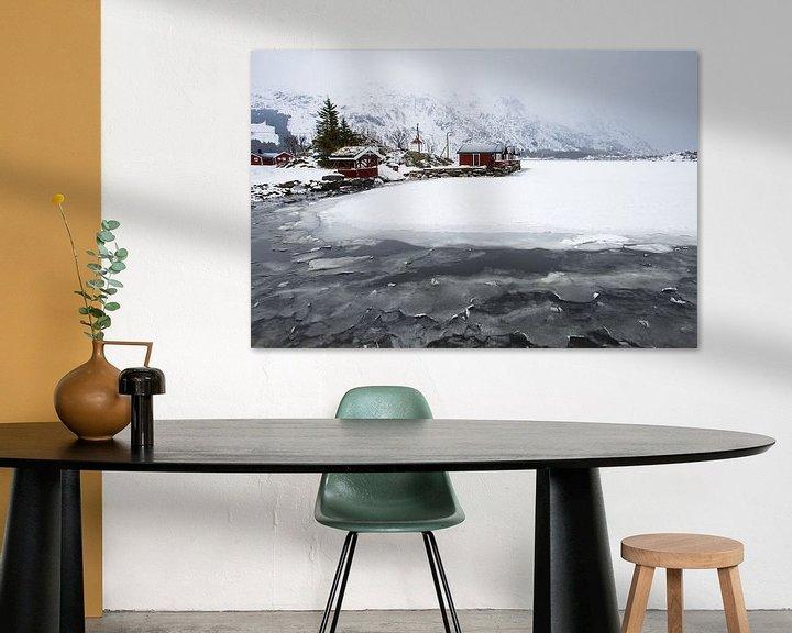Sfeerimpressie: Huisjes op de Lofoten van Antwan Janssen
