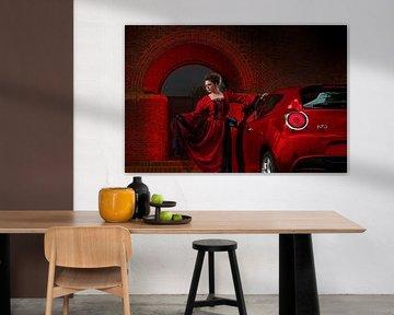 Rotes Kleid gegen Rot Alfa Romeo MiTo von RIGARDI Photography