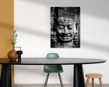 Angkor Thom - Buddha im Angkor-Tempelkomplex von Marie-Lise Van Wassenhove
