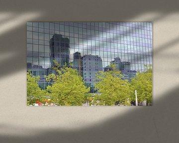 Schiekade Rotterdam reflectie van Wim Aalbers