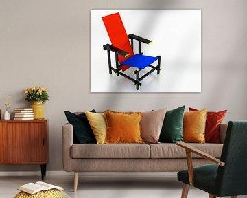 Rietveld stoel bovenaanzicht van Jan Brons