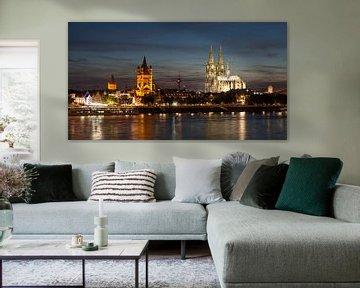 Keulen: Oude stad met Groß St. Martin en de Dom van Keulen van Torsten Krüger
