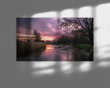 Winterse zonsondergang in Park Cronesteyn van Richard Steenvoorden