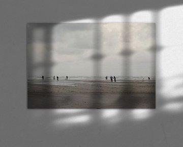 Storm op het strand van Terschelling von Berthilde van der Leij