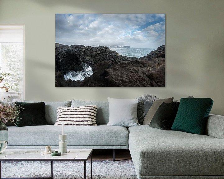 Sfeerimpressie: Reynisfjara, gezien vanaf Dyrholaey van Gerry van Roosmalen