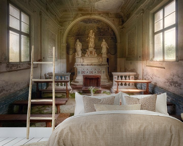 Beispiel fototapete: Die kleine Kapelle, Italien von Roman Robroek