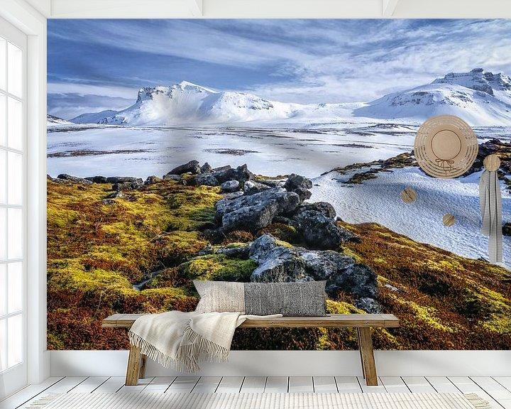 Sfeerimpressie behang: IJsland landschap van Jasper den Boer