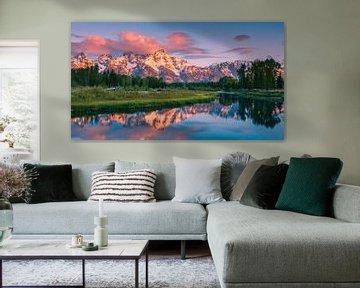 Sunrise Grand Teton NP, Wyoming, États-Unis sur Henk Meijer Photography