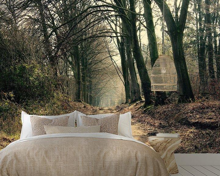 Sfeerimpressie behang: Schoonheid van het bos van Lisa-Valerie Gerritsen