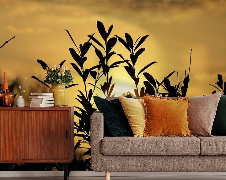 Sfeerimpressie behang: Zonsondergang van Lisa-Valerie Gerritsen
