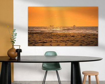 Schepen vanaf Katwijk strand von Richard Steenvoorden