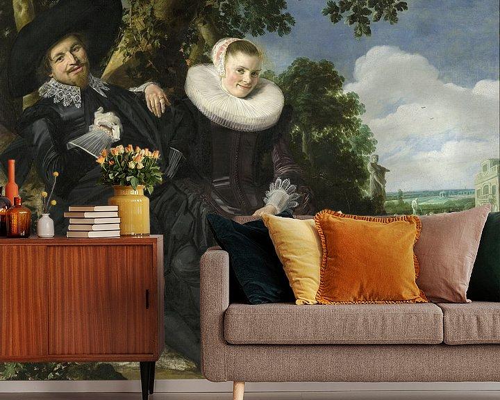 Beispiel fototapete: Portrait eines jungen Paares - Frans Hals