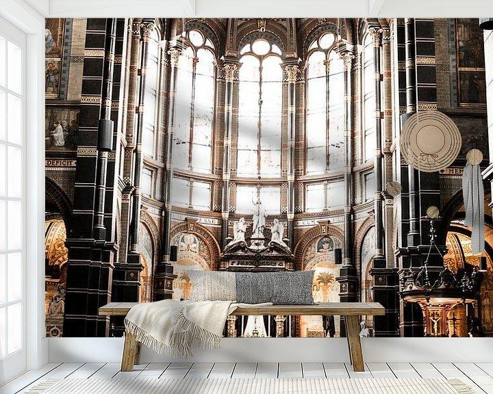 Sfeerimpressie behang: St. Nicolaaskerk Amsterdam binnen van PIX URBAN PHOTOGRAPHY