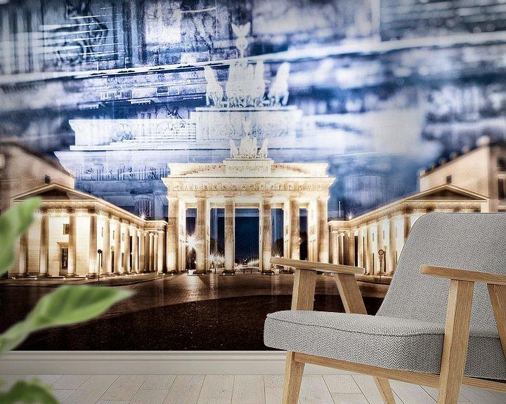 Sfeerimpressie behang: BERLIN Brandenburg Gate   In Detail van Melanie Viola