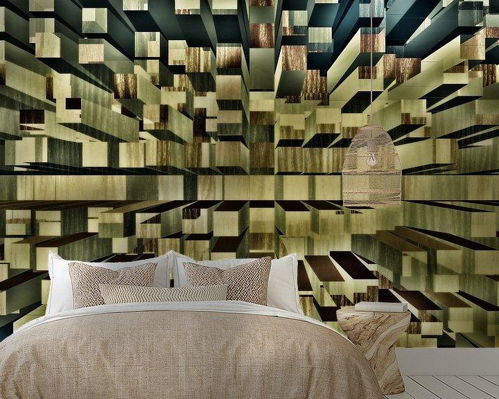 Beispiel fototapete: Tiefe Blöcke Raum von Groothuizen Foto Art